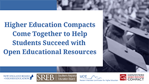 Higher Ed Compacts Come Together to Help Students Succeed with OER